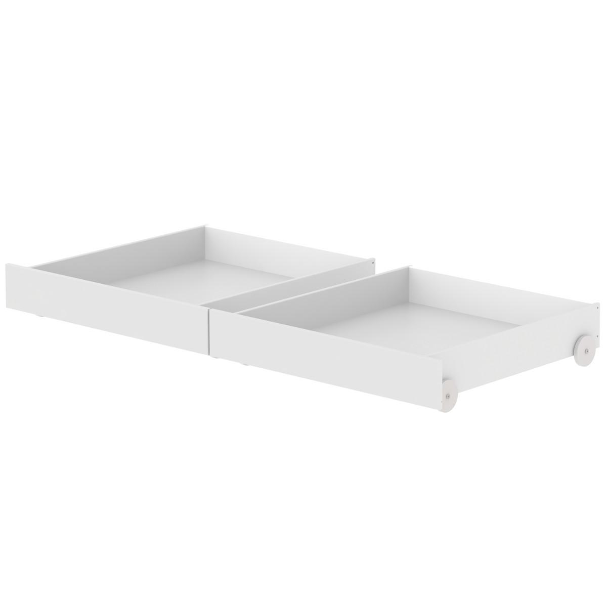 2 tiroirs lit 90x200cm WHITE Flexa blanc