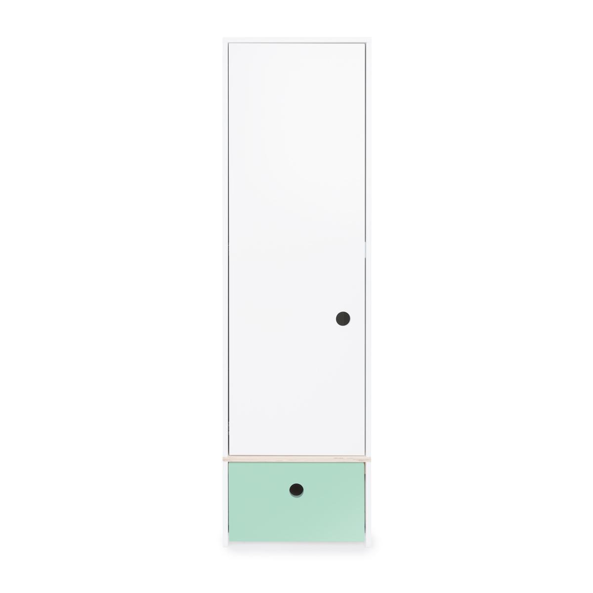 Armoire 1 porte COLORFLEX Abitare Kids façade tiroir mint