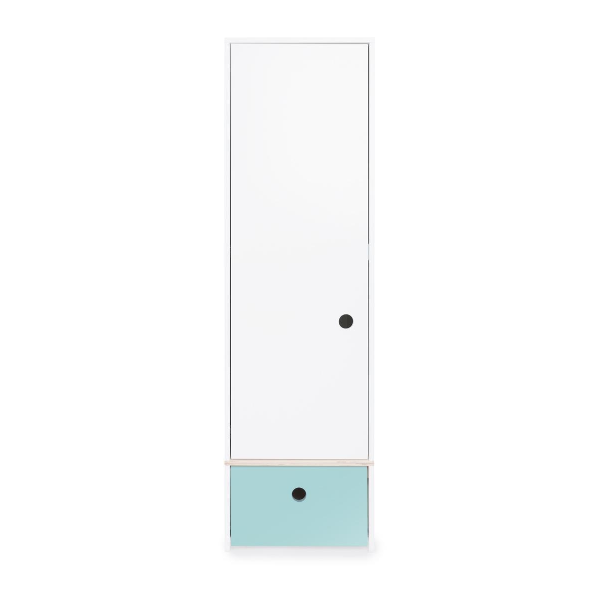 Armoire 1 porte COLORFLEX Abitare Kids façade tiroir sky blue