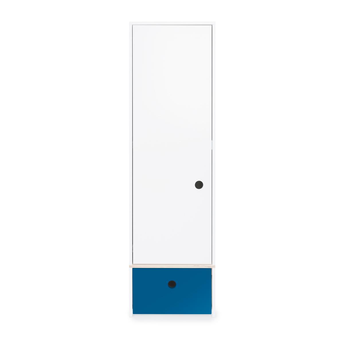 Armoire 1 porte COLORFLEX façade tiroir deep marine