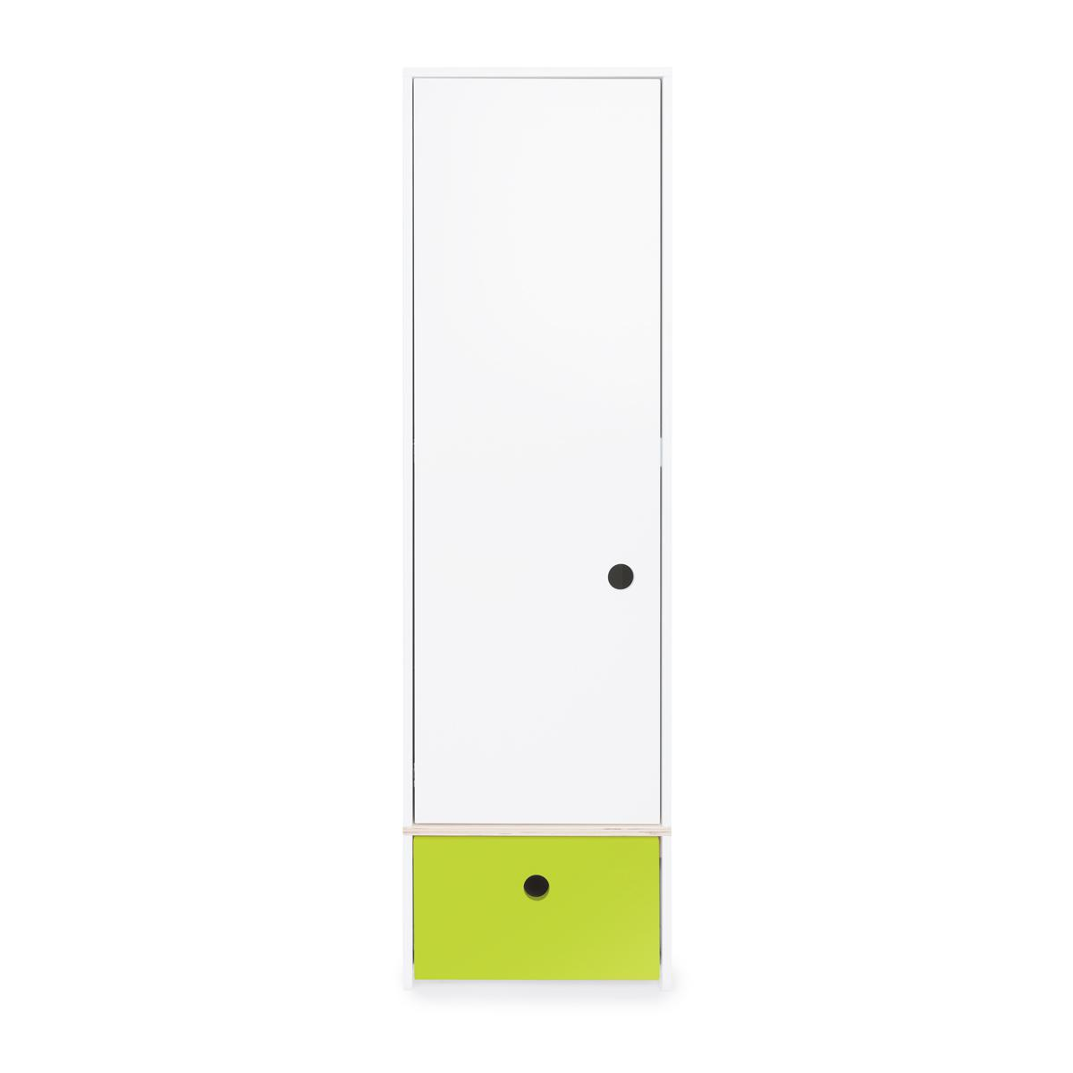 Armoire 1 porte COLORFLEX façade tiroir lime