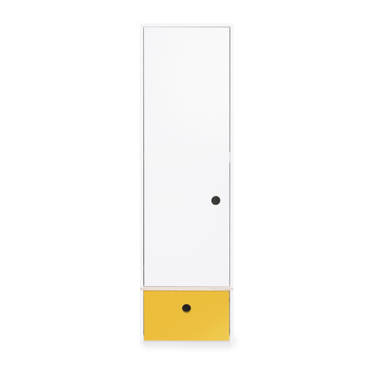 Armoire 1 porte COLORFLEX façade tiroir nectar yellow