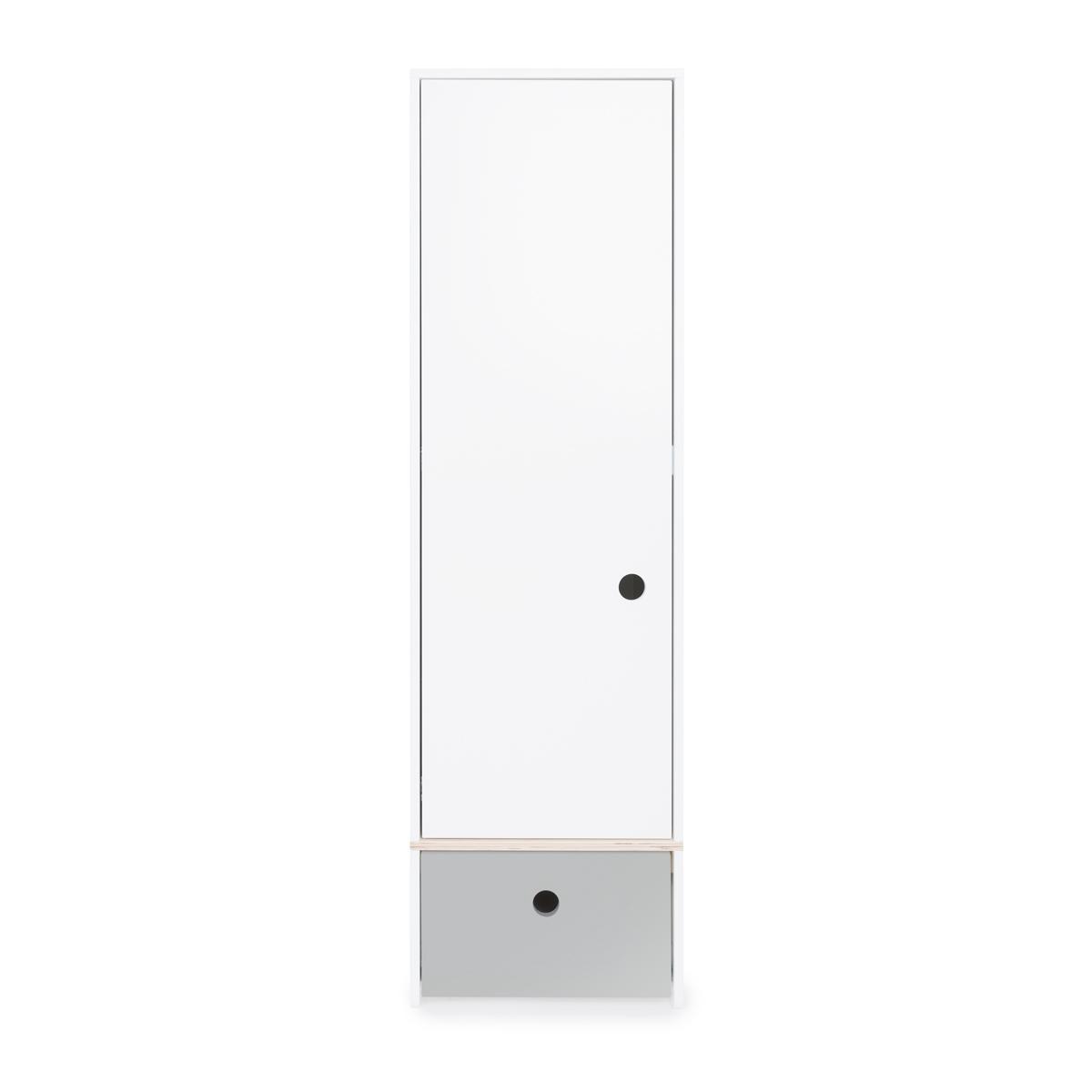 Armoire 1 porte COLORFLEX façade tiroir pearl grey