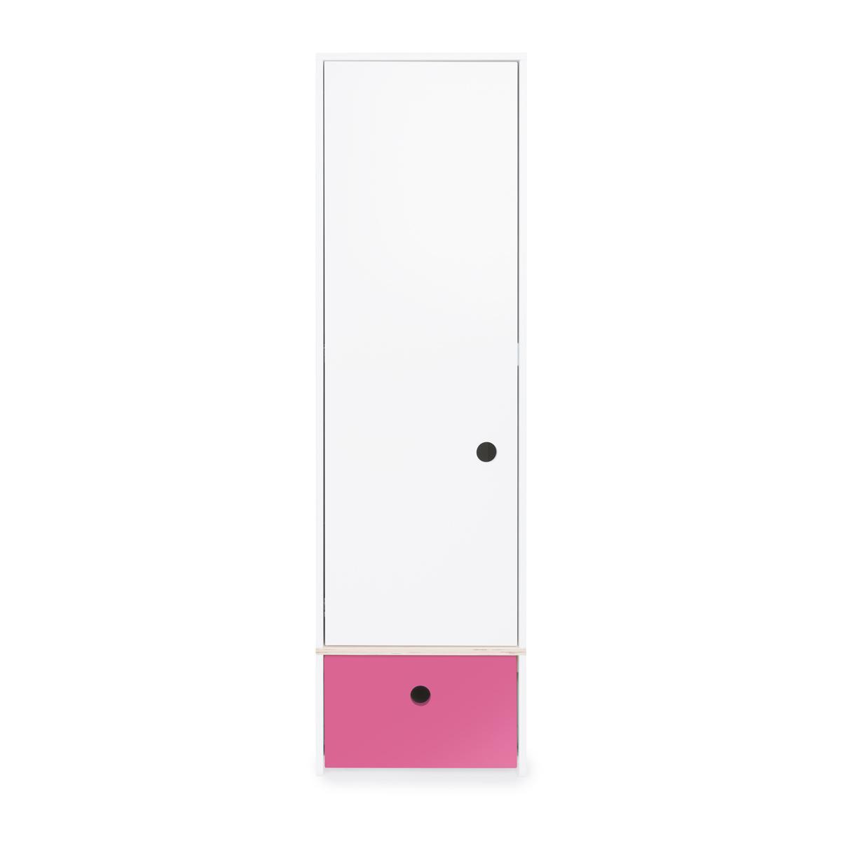 Armoire 1 porte COLORFLEX façade tiroir pink