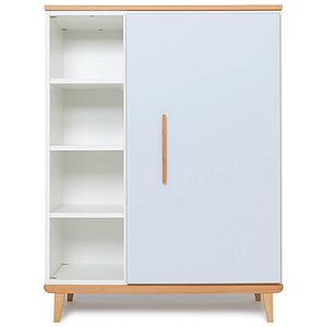 Armoire 120cm 1 porte NADO sky blue