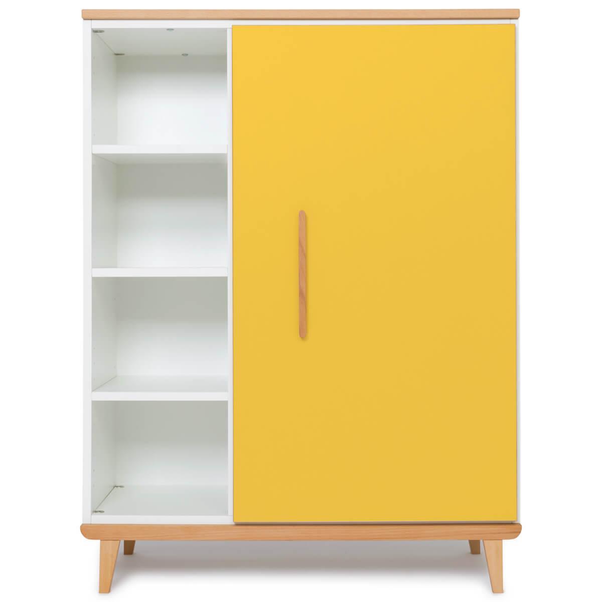 Armoire 120cm 1 porte NADO sunshine yellow