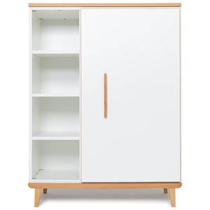 Armoire 120cm 1 porte NADO white