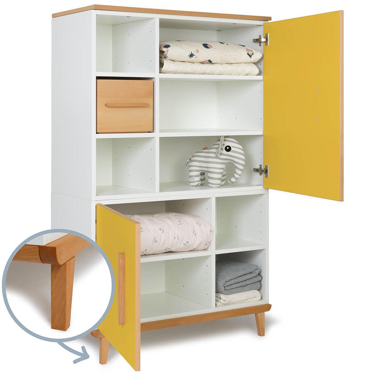 Armoire 147cm 2 portes NADO sunshine yellow