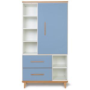 Armoire 173cm 1 porte 2 tiroirs NADO By A.K. capri blue