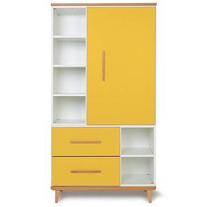 Armoire 173cm 1 porte 2 tiroirs NADO By A.K. sunshine yellow