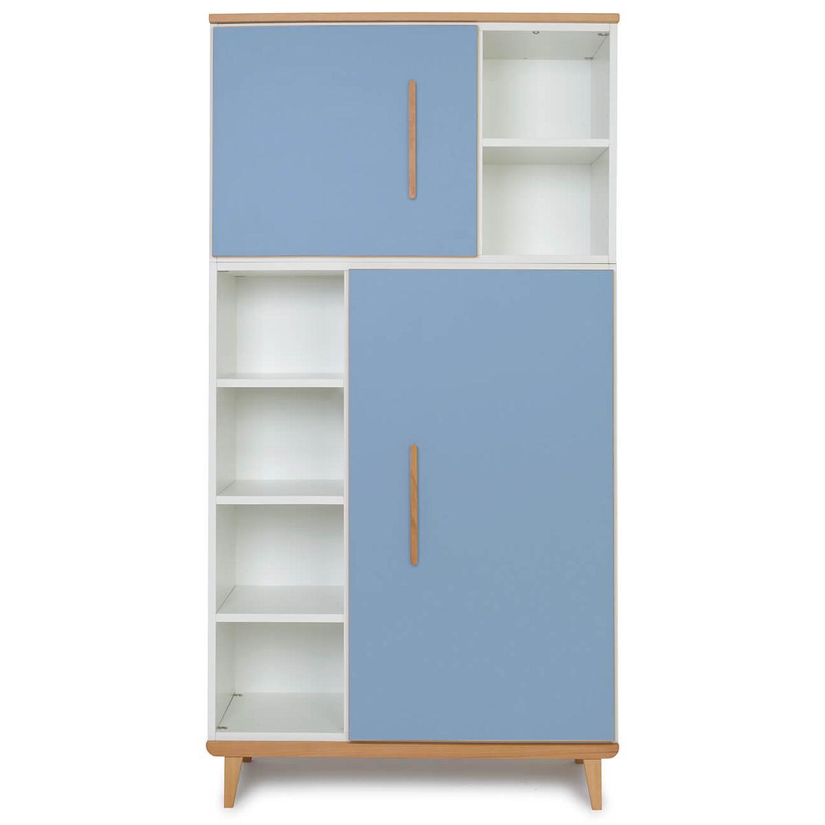 Armoire 173cm 2 portes NADO capri blue