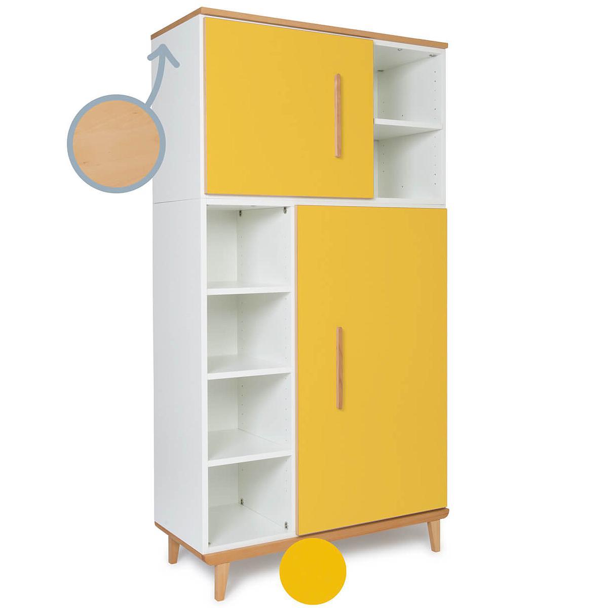 Armoire 173cm 2 portes NADO sunshine yellow
