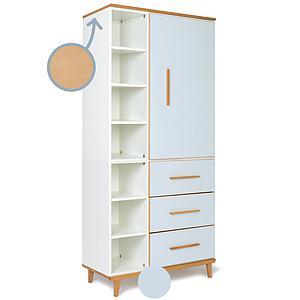 Armoire 198cm 1 porte 3 tiroirs NADO sky blue