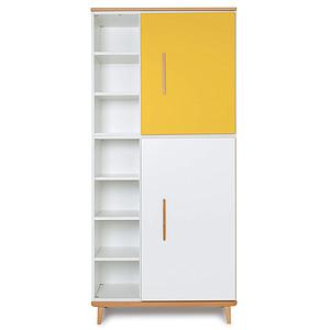 Armoire 198cm 2 portes NADO sunshine yellow-white