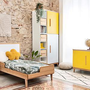 Armoire 198cm 2 portes NADO sunshine yellow
