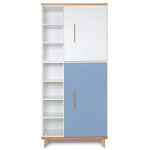 Armoire 198cm 2 portes NADO white-capri blue