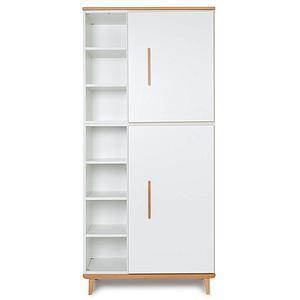 Armoire 198cm 2 portes NADO white