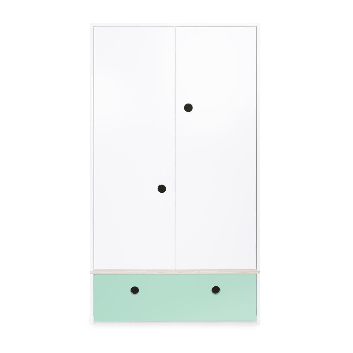 Armoire 2 portes COLORFLEX Abitare Kids façade tiroir mint