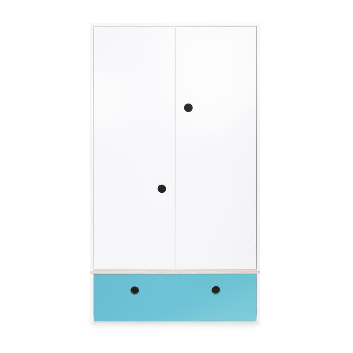 Armoire 2 portes COLORFLEX façade tiroir paradise blue