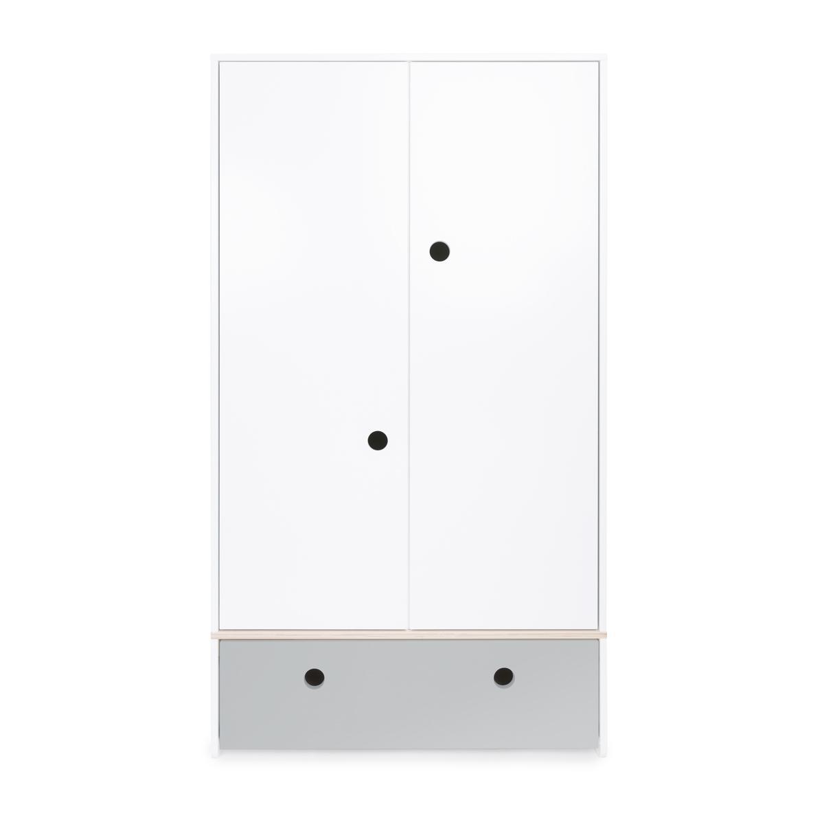 Armoire 2 portes COLORFLEX façade tiroir pearl grey