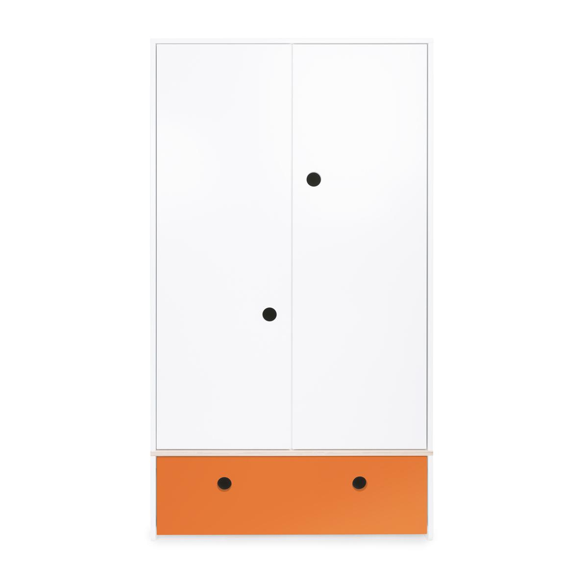 Armoire 2 portes COLORFLEX façade tiroir pure orange