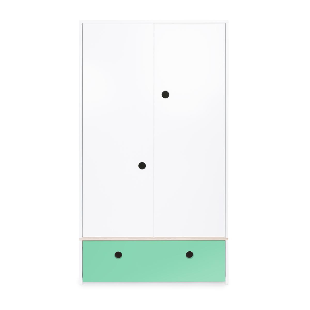 Armoire 2 portes COLORFLEX façade tiroir sea foam