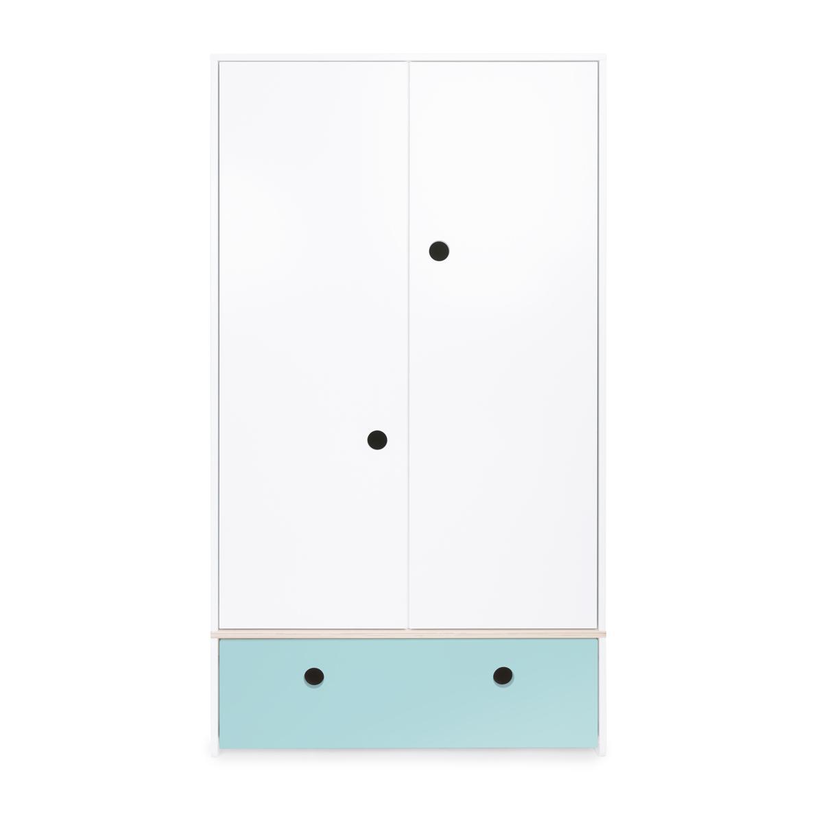 Armoire 2 portes COLORFLEX façade tiroir sky blue
