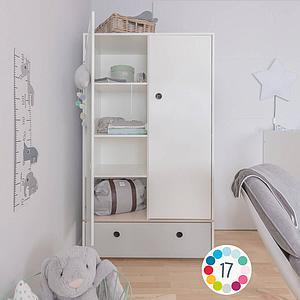 Armoire 2 portes COLORFLEX façade tiroir space grey