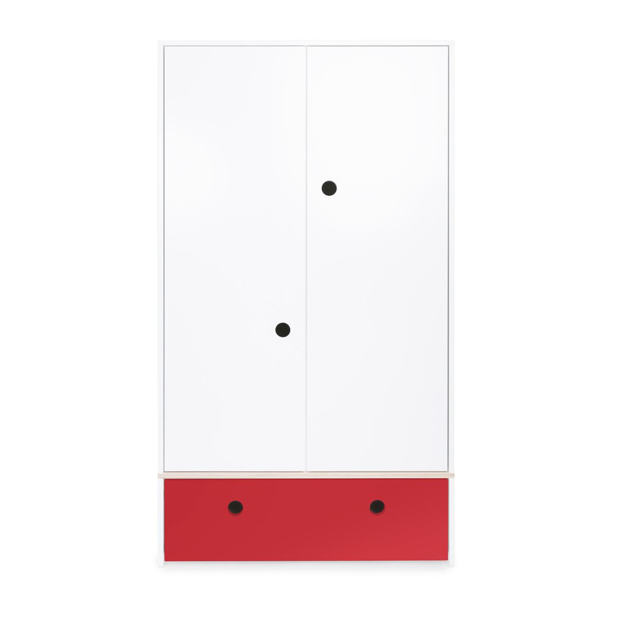 Armoire 2 portes COLORFLEX façade tiroir true red