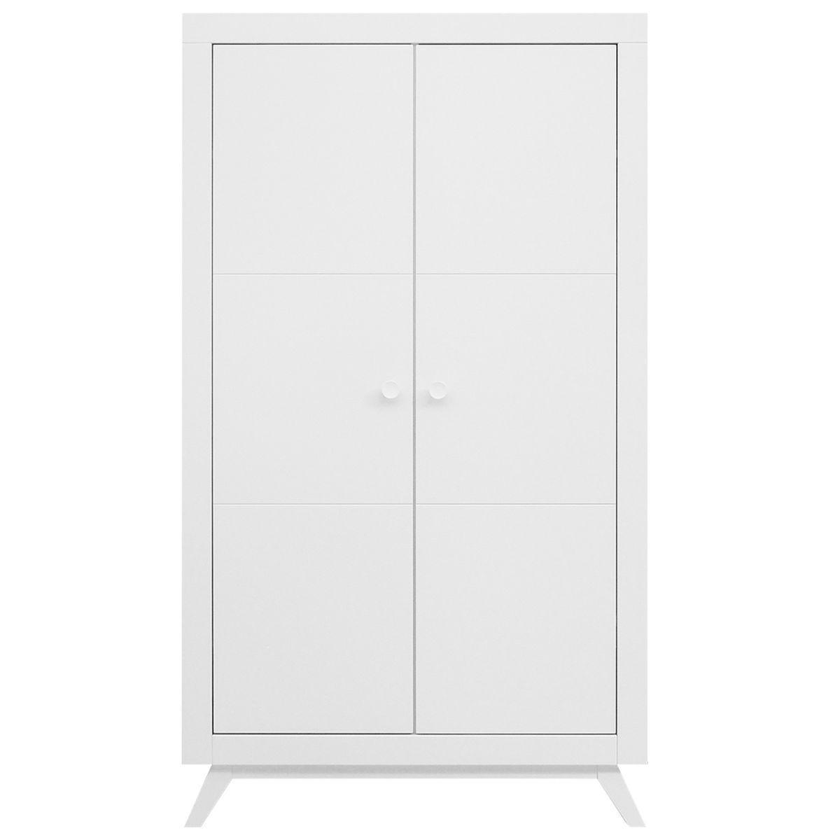 Armoire 2 portes FIORE Bopita blanc