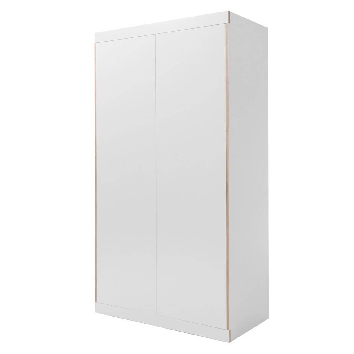 Armoire 2 portes FLAI Mueller bord blanc-bouleau