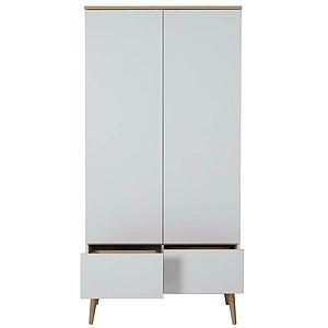 Armoire 2 portes FLOW Quax Chêne naturel-blanc