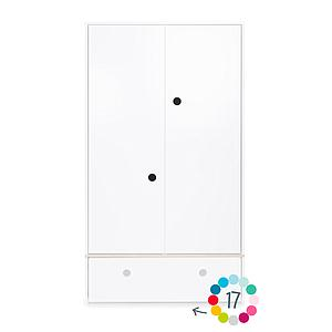 Armoire 2 portes hors façade tiroir COLORFLEX