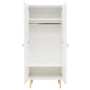 Armoire 2 portes INDY Bopita blanc-naturel