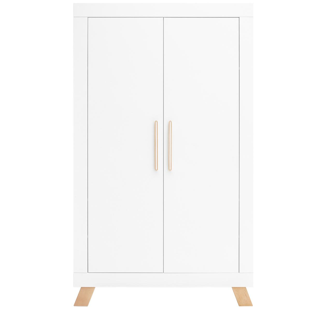 Armoire 2 portes LISA Bopita blanc-naturel