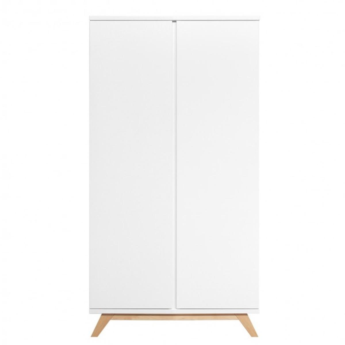 Armoire 2 portes LYNN Bopita blanc-naturel