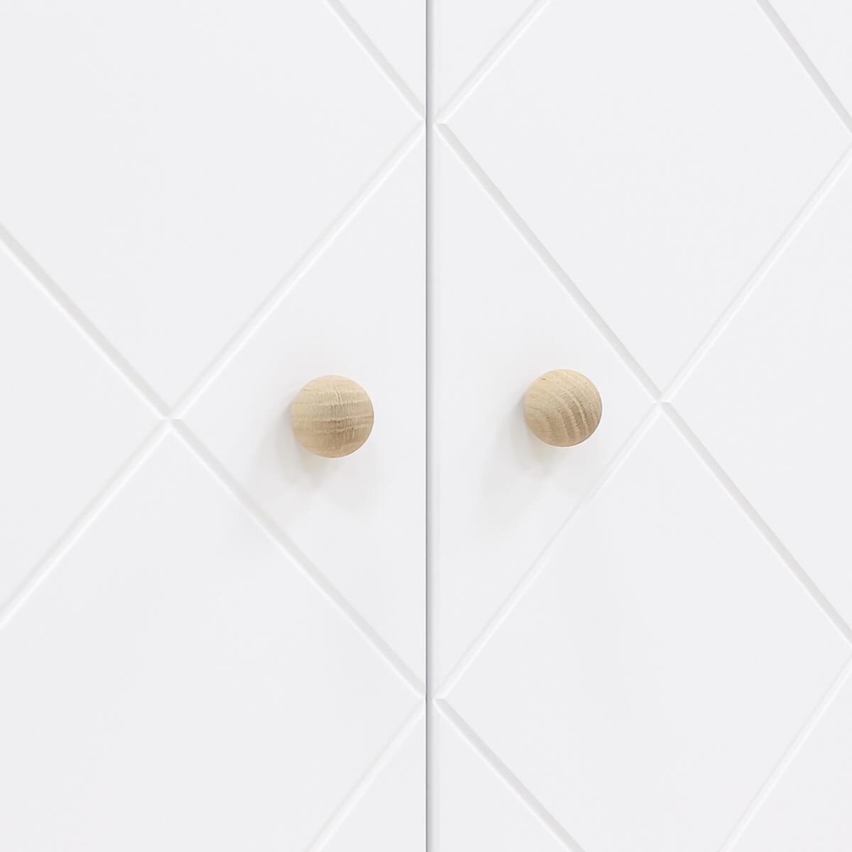 Armoire 2 portes PARIS Bopita Blanc-Chêne