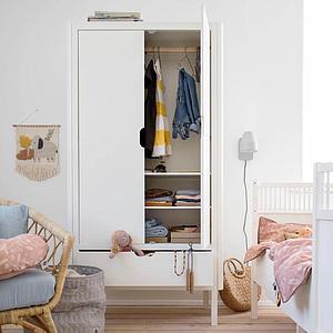 Armoire 2 portes Sebra classic white