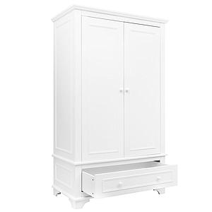 Armoire 2 portes XL CHARLOTTE Bopita blanc