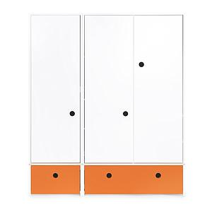 Armoire 3 portes COLORFLEX façades tiroirs pure orange