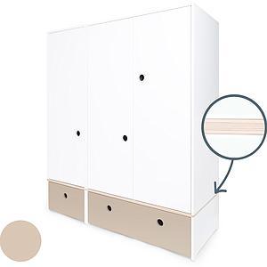 Armoire 3 portes COLORFLEX façades tiroirs warm grey