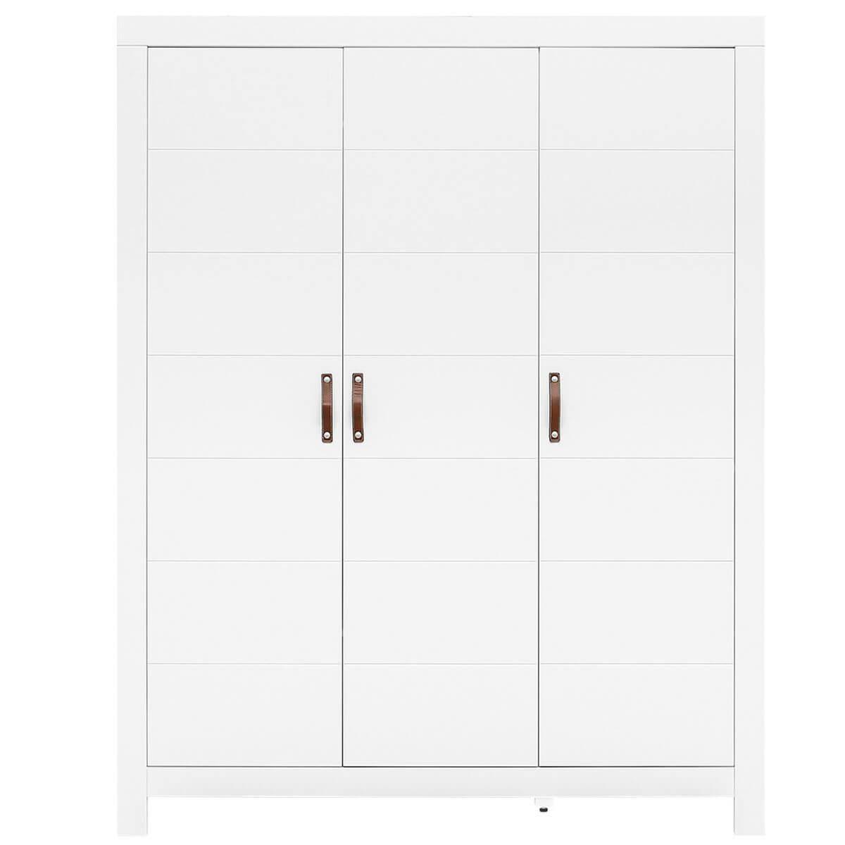 Armoire 3 portes LUCCA Bopita blanc