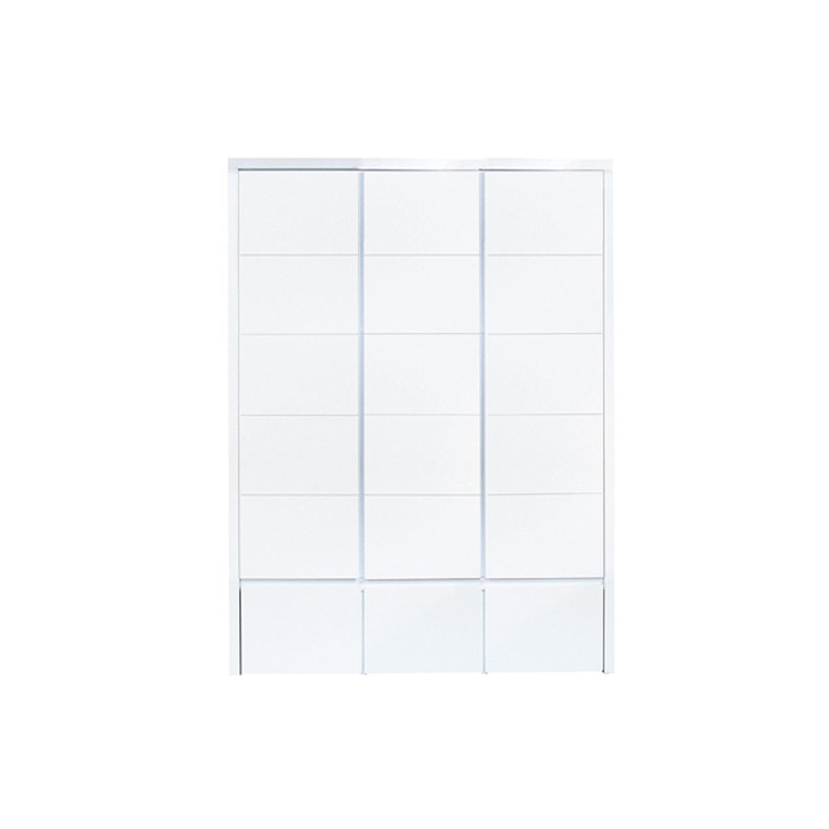 Armoire 3 portes rainures XL MIX & MATCH Bopita blanc (hors façade de tiroir)
