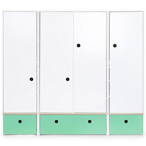 Armoire 4 portes COLORFLEX façades tiroirs sea foam