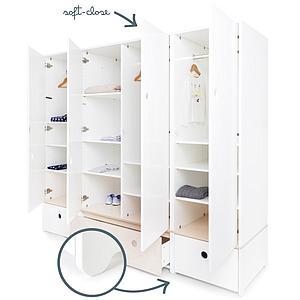 Armoire 4 portes COLORFLEX façades tiroirs white-white wash-white