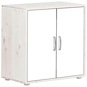 Armoire enfant 2 portes NEW Classic FLEXA blanchi - blanc - blanc