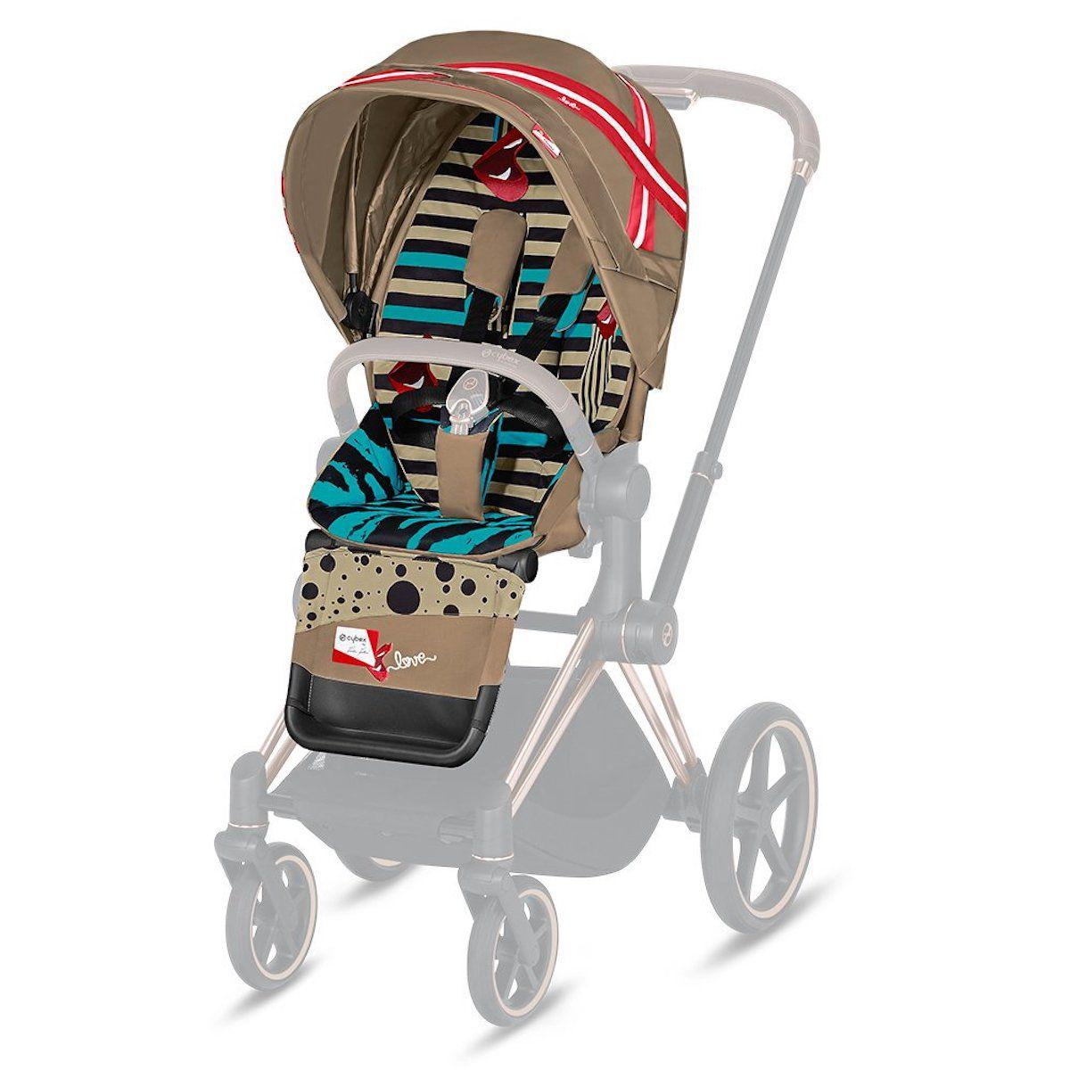 Assise-habillage poussette PRIAM Cybex One Love-multicolor