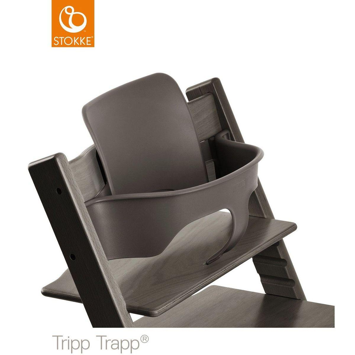 Baby set chaise haute TRIPP TRAPP Stokke gris brume