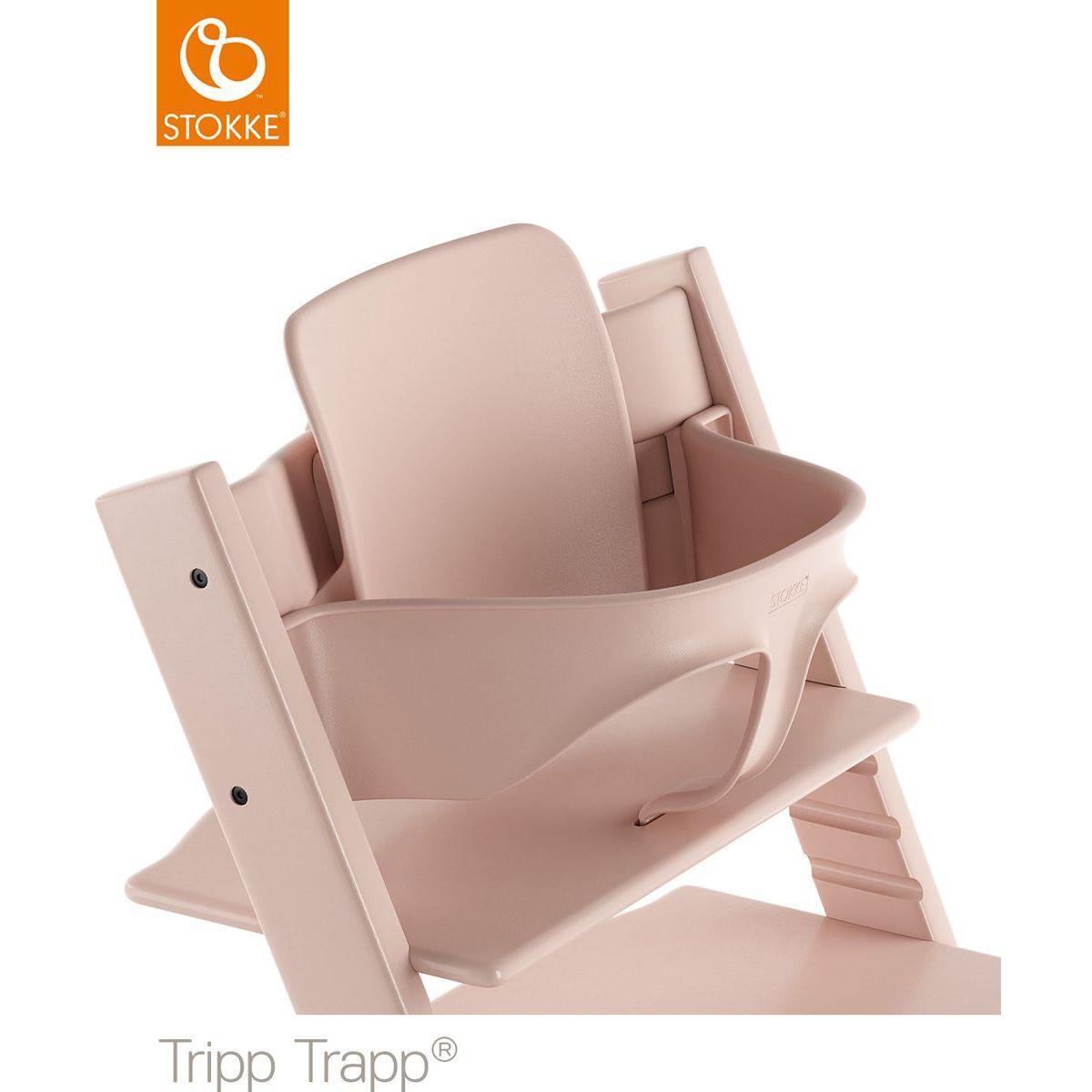 Baby set chaise haute TRIPP TRAPP Stokke rose serein