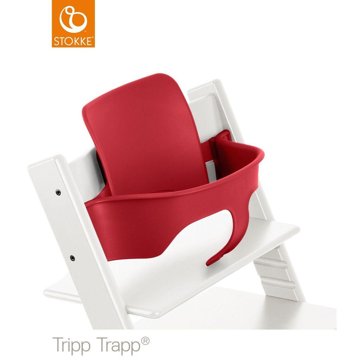 Baby set chaise haute TRIPP TRAPP Stokke rouge